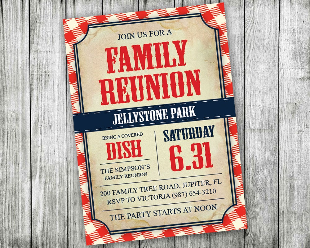 🔎zoom  Invitations For Family Reunion