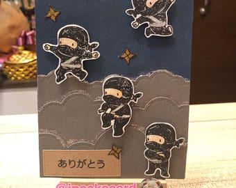 Handmade Arigato card
