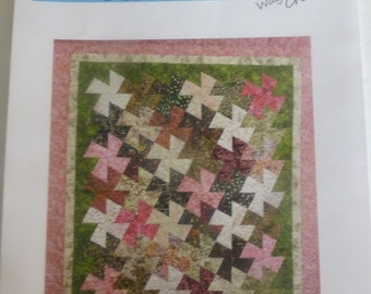 "Pattern~Quilt~Weekend Twister~ 68 1/2"" x 76""~ Use Twister Tool(Not Included) Fast Shipping PT244"