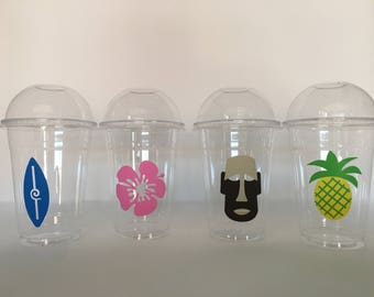 Tiki Party Cups, Luau Party Cups, Pool Party Cups, Beach Party Cups, Tiki Birthday Party Cups, Luau Party Cups, Luau Baby Shower