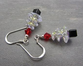 Christmas Tree Crystal Earrings Swarovski Tree Earrings Sparkling Earrings Christmas Jewelry Crystal AB SRAJD USA Handmade