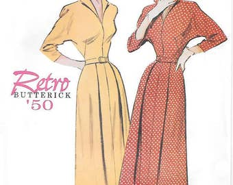 Butterick Retro 1950s women's dress with dolman sleeves reissued pattern uncut and factory folded Out of Print