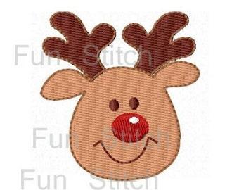 Christmas reindeer machine embroidery design