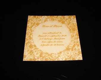 1654 wedding invitation card, custom engraved