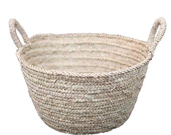 Hand-woven basket Storage Basket L