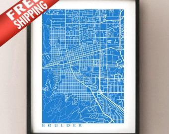 Boulder Map Print