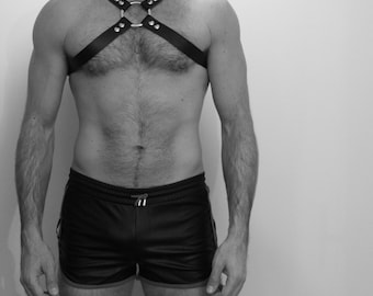 """CROSS"" leather Fetish harness"