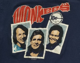 Vintage Monkees T-Shirt, The Monkees 1987 Summer Tour, Hey hey we're The Monkees