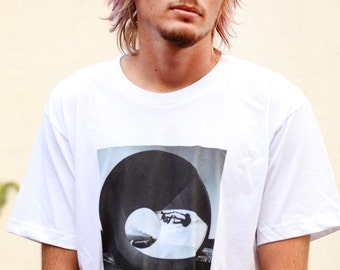 Skateboarding Photo T Shirt Gray(out of white) - Size Medium, Large and X-Large - Chris Miller - Next Level - Limited Release