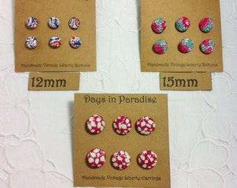 Handcrafted Liberty Fabric Covered Buttons