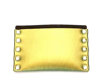 Scarab Slim Wallet | Gold Iridescent Thin Wallet | Card Holder | Mens Wallet | Wallet | Simple Wallet | Vegan | Made in USA