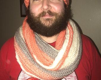 Knitted Herringbone Cowl