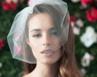 bridal birdcage veil birdcage blusher tulle bridal birdcage veil tulle veil small blusher small tulle birdcage veil wedding ~ MARIE MEDIUM