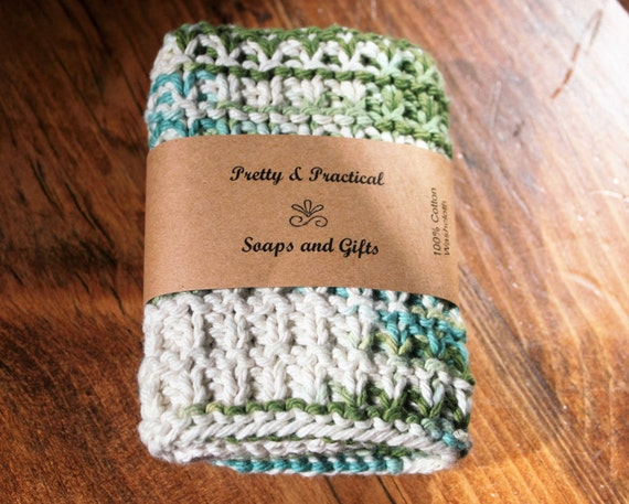 100% Cotton Washcloth, Knitted Washcloth