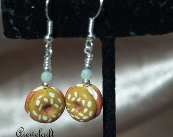 Bagels and Lox Earrings 18020