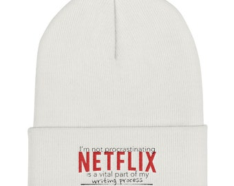 Netflix is my Creative Process Cuffed Beanie