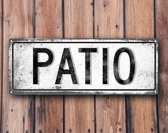 PATIO Metal Street Sign, Vintage, Retro    MEM2023