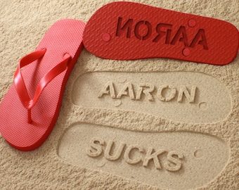 Fun Personalized Sand Imprint Sandals *check size chart, see 3rd product photo*