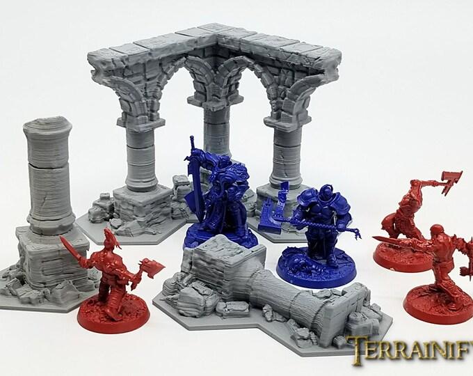 Shadespire Terrain Set – UNPAINTED kit - Miniature Wargaming & RPG terrain