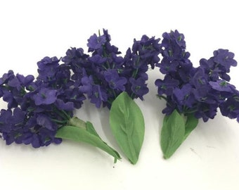 Artificial Flowers. Realistic Lavender Branches, Purple. Home Decor. Bag of 25 Pieces.