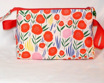 Field of Poppies Tall Mia Bag - Organic Fabric