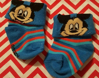 Mickey Mouse Stripe Footies