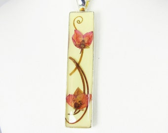Boronia Heather Flower Pendant, Real Flower Jewelry,  Pressed Flowers, Resin,  (1723)