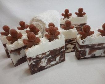 Gingerbread Man SOAP LOAF - Gingerbread Soap - Christmas Soap - Ginger Soap - Cinnamon Soap - Bulk Holiday Soap - Stocking Stuffer Gift Soap
