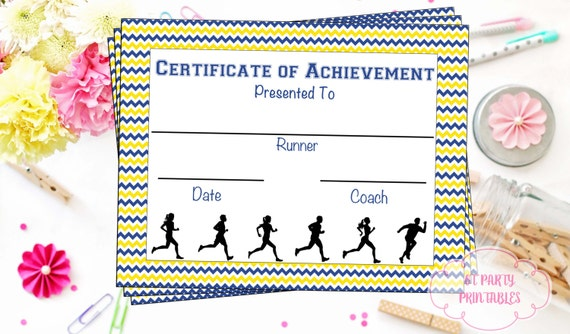 instant download cross country certificate jog a thon