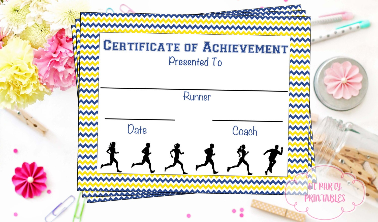 Download Running Certificate Templates for Free  FormTemplate
