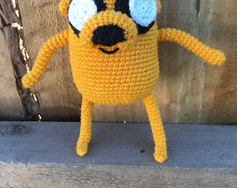 Crocheted Jake the Dog from Adventure Time - soft amigurumi Jake toy