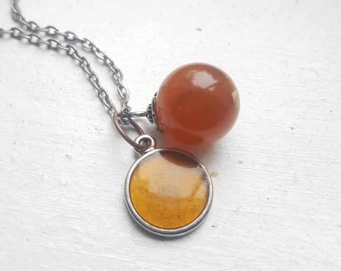 Pet Memorial Necklace, customizable with your pets ashes
