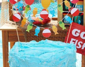 Fishing celebration Cake Bunting