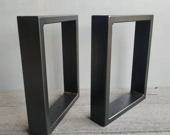 Metal Bench Legs Set Of 2 - U Shaped Legs For Bench or Coffee Table  Comes in Black, White, Gold Or Raw Metal Table Legs