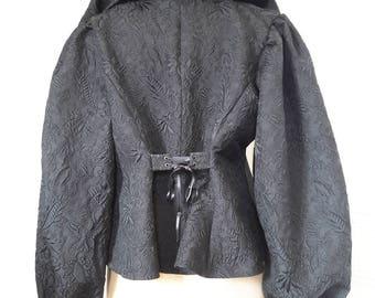 1900 black Brocade jacket