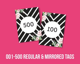 Agnes and Dora live sales numbered Tags 2.5 x3.5 inches, mirrored cards, instant Download, numbers, Agnes and Dora Marketing