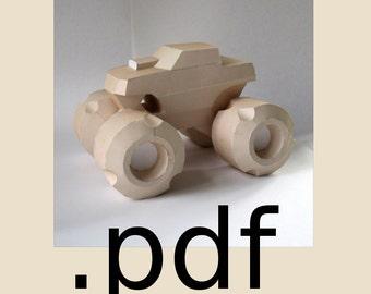 Monster Truck Papercraft PDF - DIY Template