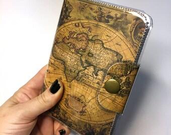 Ancient World Maps Vinyl Travel Passport Case holder