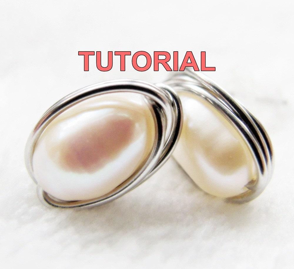 WIRE JEWELRY TUTORIAL Wire Wrap Stud Earrings Simple Yet