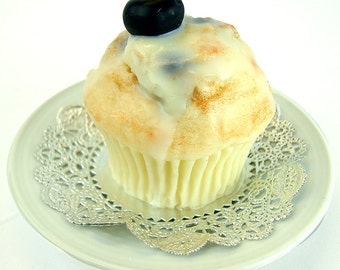 Blueberry Muffin - full-size muffin soap