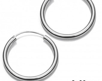 Hoops 3 X 60 Mm Sterling Silver 925