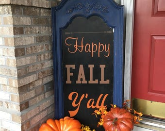 Happy Fall Y'all, fall decal, leaf decal, thanksgiving decor, pumpkin decor, fall decoration, happy fall, autumn decor, diy fall sign, vinyl