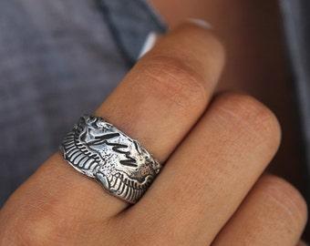 Boho Jewelry, Bohemian Style Fashion, Bohemian Jewelry, BOHO CHIC RING, Boho Silver Ring, Sterling Silver Boho Ring for Hippies, Hippie Ring