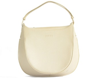 1970s Loewe ivory leather shoulder bag