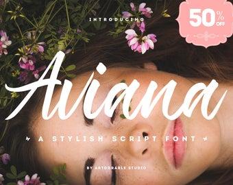 Aviana Script Font 50% Off