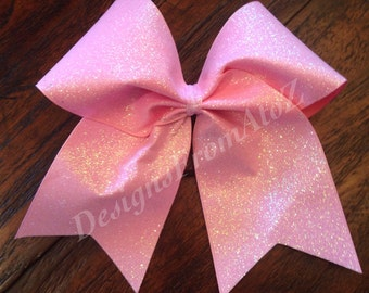 Pink Sparkle Cheer Bow