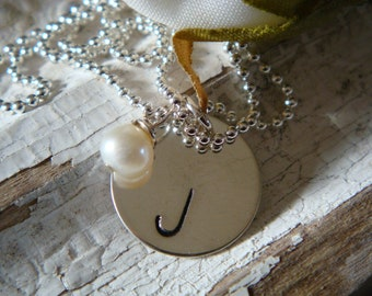 Initial Necklace in Sterling Silver Personalized with your Initial