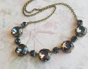 Bib necklace, crystal necklace, Swarovski necklace, womens gifts, womens fashion, birthday gifts, jewelry, jewellery, Victorian jewelry