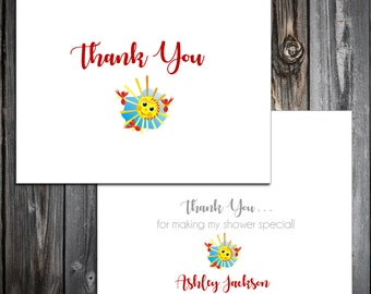 25 You Are My Sunshine Baby Shower Thank You Notes. Price includes printing.