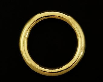 1 Rich Low Brass Soldered Closed Jump Ring in 3 Sizes
